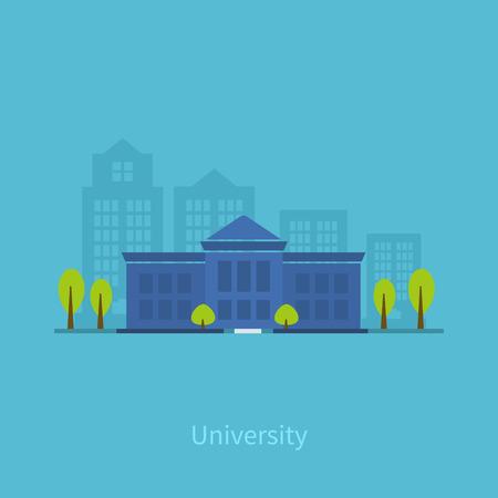 Illustration pour School and university building icon. Vector illustration - image libre de droit