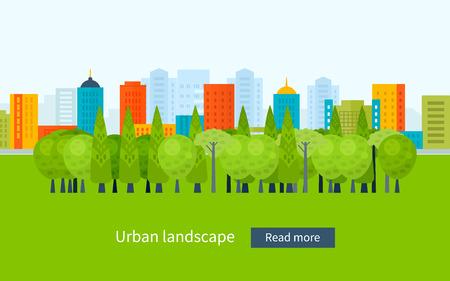 Illustration pour Flat design modern vector illustration icons set of urban landscape and city life. Building icon - image libre de droit