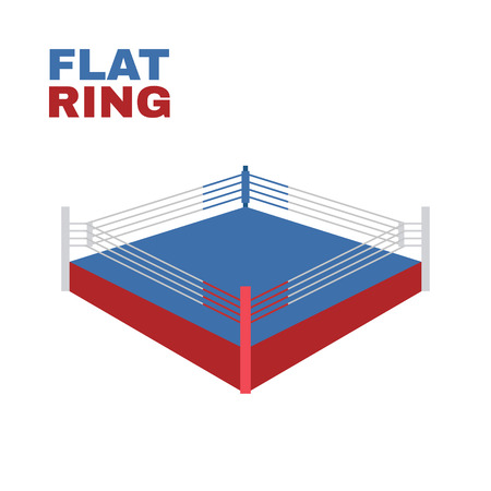 Boxing Ring Isolated on white. Vector illustration