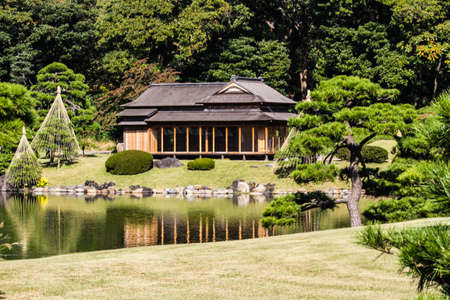 Photo for Hamarikyu garden in Tokyo,Japan. - Royalty Free Image