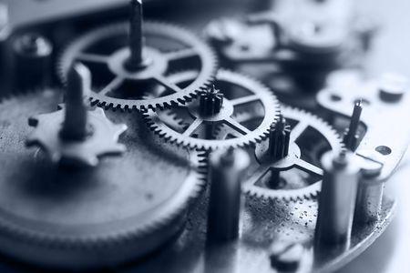 Photo pour Clockworks - macro of internal mechanism of a clock - image libre de droit