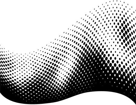 Elegant wave made of halftone dots, for backgrounds