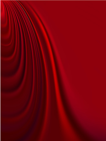 Illustration pour Vector - luxurious folds of red satin, with smooth copy space - image libre de droit