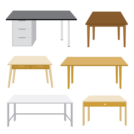 Illustration pour Furniture Wooden table isolated illustration on white background - image libre de droit