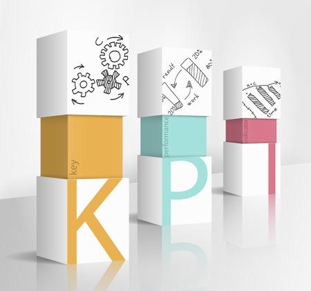 3d illustration concept: KPI