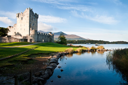 Ross castle Caislen an Rois on the edge of Lough Leane in Killarney National Park County Kerry Ireland