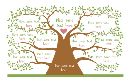Illustration for Concept of geneologic tree with empty spaces for your information - Royalty Free Image
