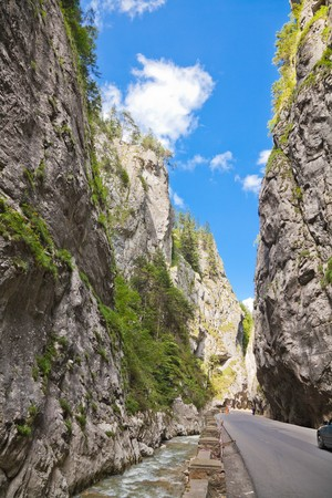 Summer landscape of the famous Bicaz Gorges in Neamt County, Romania.