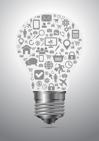 social media light bubble concept