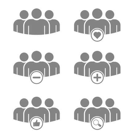 Photo pour people group teamwork icon set - image libre de droit
