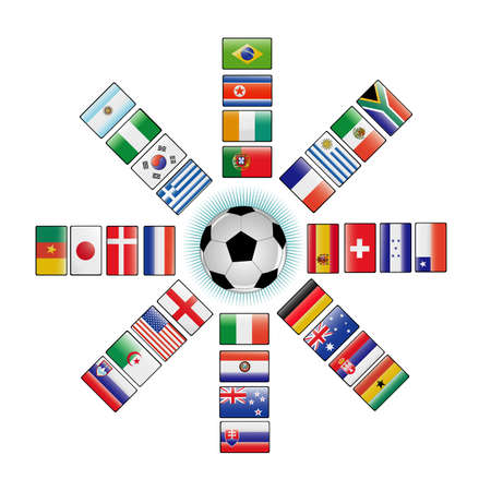 flags of the world cup 2010