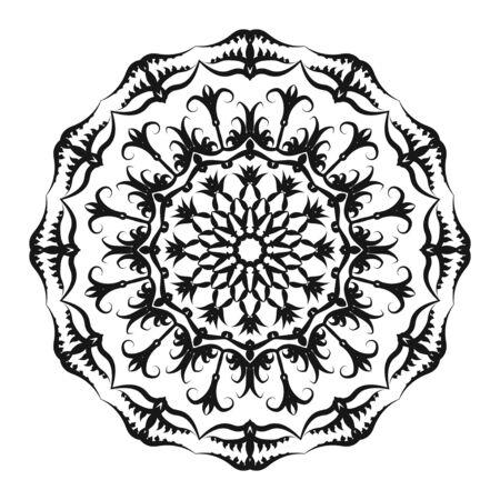 Illustration pour Flower Mandala. Vintage decorative elements. Oriental pattern, vector illustration. Islam, Arabic, Indian, moroccan,spain, turkish, pakistan, chinese, mystic, ottoman motifs. Coloring book page - image libre de droit