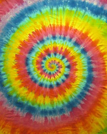 A colorful tie dye pattern (handmade)