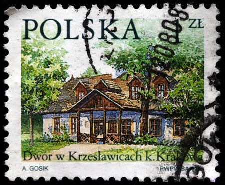 POLAND - CIRCA 2000: A stamp printed in Poland shows jard in Krezeslawica near Krakow, circa 2000