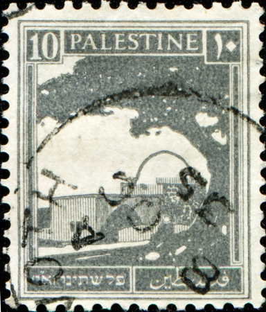 PALESTINE - CIRCA 1927: A stamp printed in Palestine shows Bethlehem, the tomb of Rachel, circa 1927