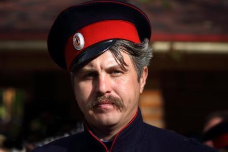 LUGANSK - OCT 14  Don Cossack , celebration of the Protection of the Mother of God, Lugansk, Ukraine, October 14, 2012