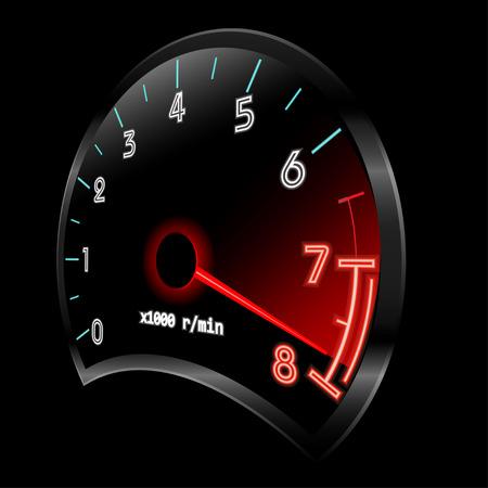 Tachometer 3D (revolution-counter , RPM gauge).