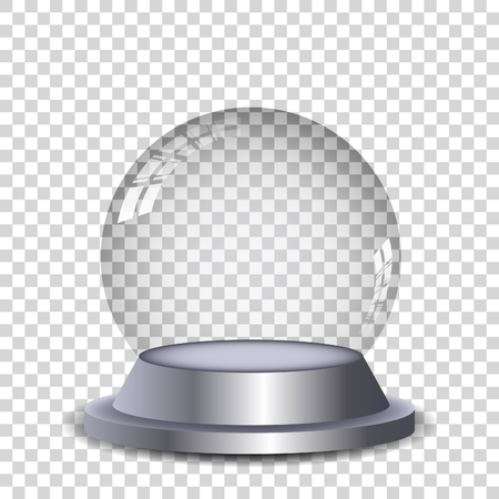 Illustration pour Crystal ball with reflection isolated and transperent. Vector eps10. - image libre de droit