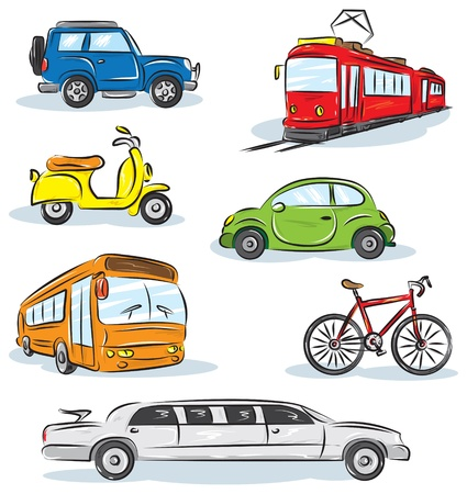 Photo for City Transport icons Set  - Royalty Free Image