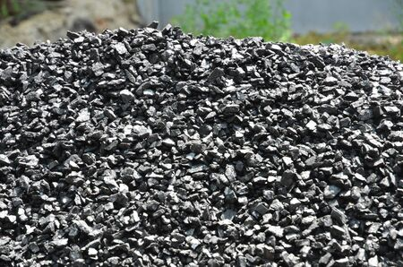A pile of coal anthracite fines.