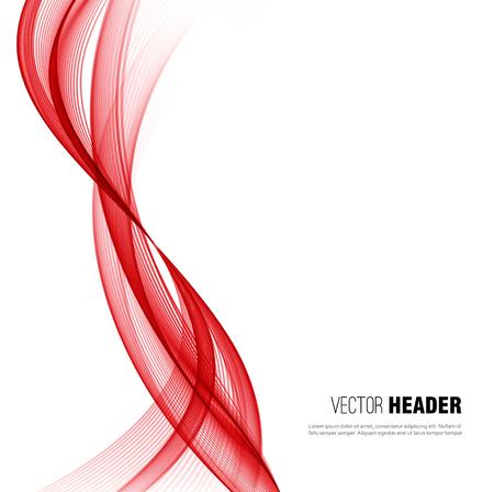 Abstract vector wave background, redwaved lines for design brochure, website