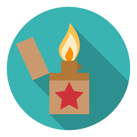 Lighter icon. Flat design style modern vector illustration. Isol