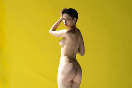 Photo for young beautiful girl posing nude in the studio - Royalty Free Image