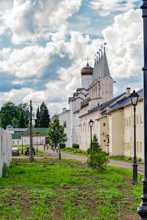 Campanile of the Tikhvin Assumption Monastery,Tikhvin, Russia