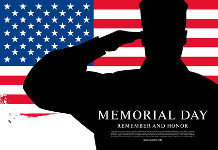 Illustration for Memorial day. Remember and honor. Vector illustration - Royalty Free Image
