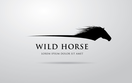 Illustration for Horse logo design - Royalty Free Image