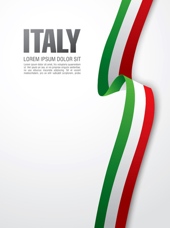 Illustration for flag of italy - Royalty Free Image
