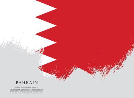 Illustration for Flag of bahrain - Royalty Free Image