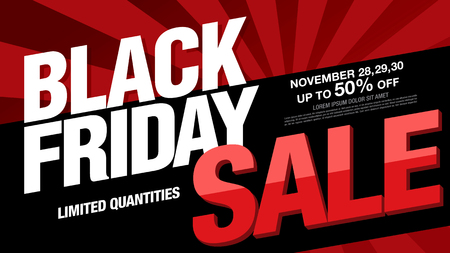 Ilustración de Black friday sale banner layout design - Imagen libre de derechos