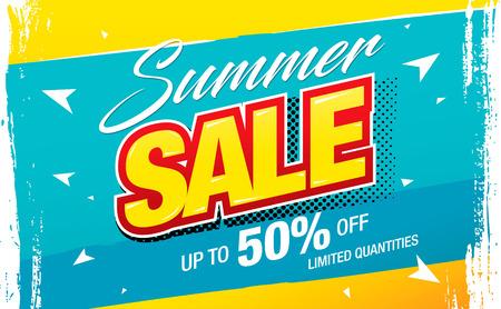 summer sale banner layout design vector illustration
