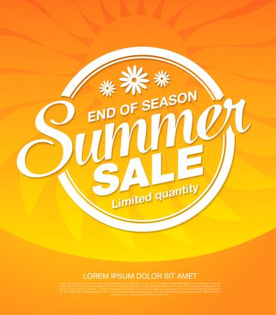 Ilustración de summer sale banner layout design - Imagen libre de derechos