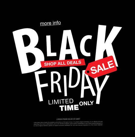 Illustration pour black friday sale label layout design, vector illustration - image libre de droit