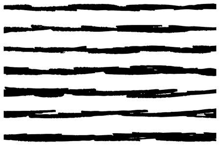 Illustration for hand drawn horizontal stripes pattern background - Royalty Free Image