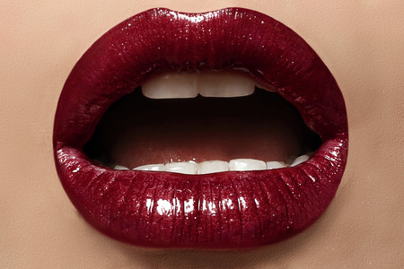 Photo for sexy female lips with perfect makeup - Royalty Free Image
