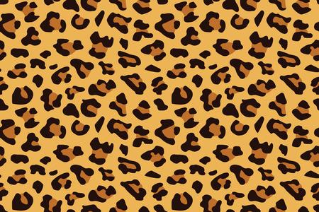 Ilustración de Leopard seamless pattern. Animal print. Vector background. - Imagen libre de derechos