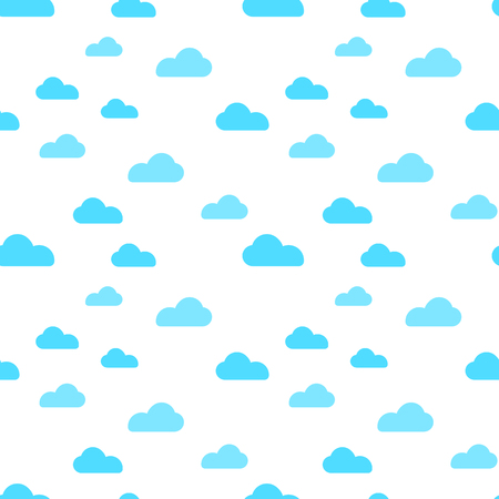 Illustration for Blue cloud seamless pattern vector design baby art. Baby shower clouds , sky seamless pattern texture- Vector - Royalty Free Image