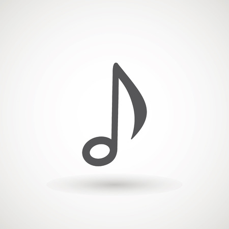 Illustration pour Music note icon in trendy flat style isolated on background. Music note icon page symbol for your web site design logo, app, UI. Vector illustration, EPS10. - Vector. - image libre de droit