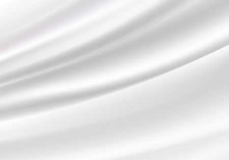 Illustration pour White silk satin background smooth texture background. Beautiful White Silk. Drapery Textile Background, Vector Illustration - image libre de droit