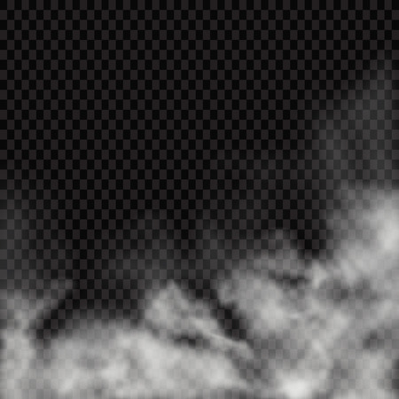 Illustration pour Fog or smoke isolated transparent special effect. White vector cloudiness, mist or smog background. Vector illustration - Vector illustration - image libre de droit