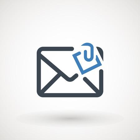 Illustration pour Email icon. Envelope Mail services. Contacts message send letter isolated flat - image libre de droit