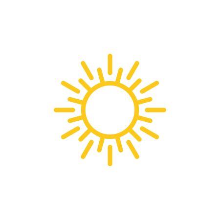 Ilustración de Sun sign symbol icon vector illustration. Sun vector border icon use for admin panels, website, interfaces, mobile apps - Imagen libre de derechos