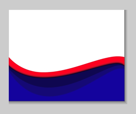 Red blue white abstract wavy background