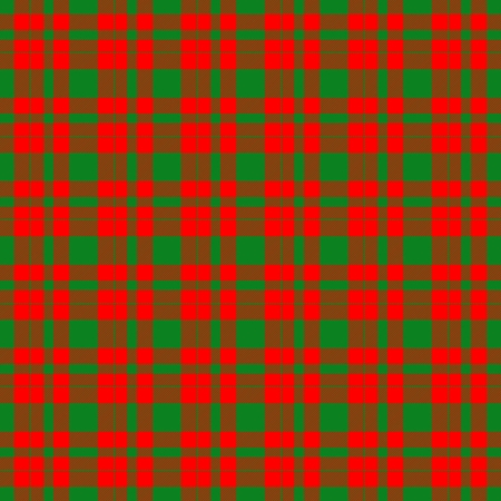 Red green checkered tileable pattern like a fabric