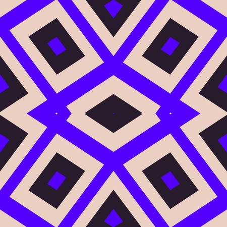 Abstract geometrical pattern in cubist style with garish violet color