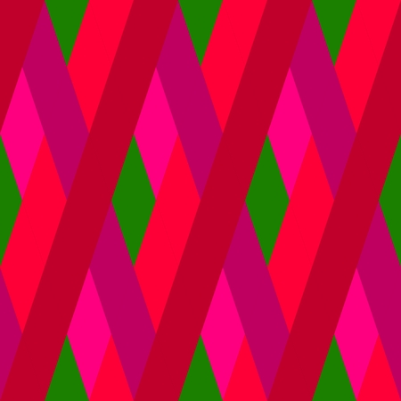 Abstract seamless red green oblique irregular striped pattern