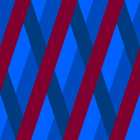 Abstract seamless Blue red violet oblique irregular striped pattern